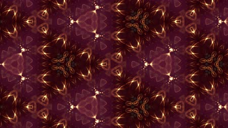 tvořit : Glow particles form ornate pattern like mandala. Abstract seamless animation as science fiction pattern for HUD screen element. Top of view. Complex structure as background. Golden red ver 52