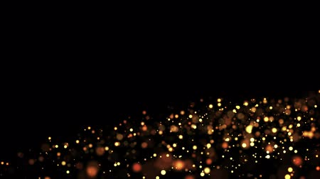 luminosidade : gold particles in liquid float and glisten. Background with glittering golden particles depth of field and bokeh. Luma matte to cut out glowing particles for holiday presentations. 4k 3d animation. 7