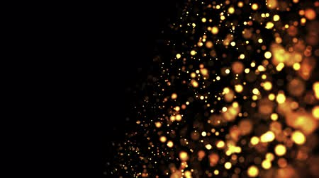 luma matte : gold particles in liquid float and glisten. Background with glittering golden particles depth of field and bokeh. Luma matte to cut out glowing particles for holiday presentations. 4k 3d animation. 13