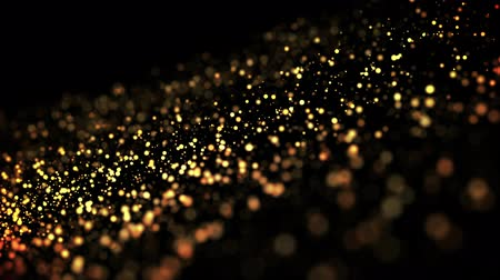 luminosidade : gold particles in liquid float and glisten. Background with glittering golden particles depth of field and bokeh. Luma matte to cut out glowing particles for holiday presentations. 4k 3d animation. 20