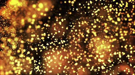 recortar : gold particles in liquid float and glisten. Background with glittering golden particles depth of field and bokeh. Luma matte to cut out glowing particles for holiday presentations. 4k 3d animation. 37