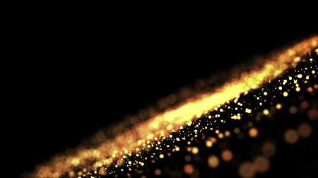 recortar : gold particles in liquid float and glisten. Background with glittering golden particles depth of field and bokeh. Luma matte to cut out glowing particles for holiday presentations. 4k 3d animation. 51 Vídeos