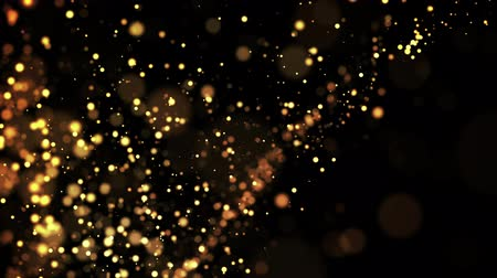 luma matte : gold particles in liquid float and glisten. Background with glittering golden particles depth of field and bokeh. Luma matte to cut out glowing particles for holiday presentations. 4k 3d animation. 63 Stock Footage