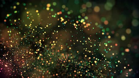 stofmasker : multicolored particles in liquid float and glisten. 4k 3d advection background with glittering particles, depth of field and bokeh isolated on black. Luma matte to cut out particles. 15