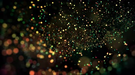desfocado : multicolored particles in liquid float and glisten. 4k 3d advection background with glittering particles, depth of field and bokeh isolated on black. Luma matte to cut out particles. 19 Vídeos