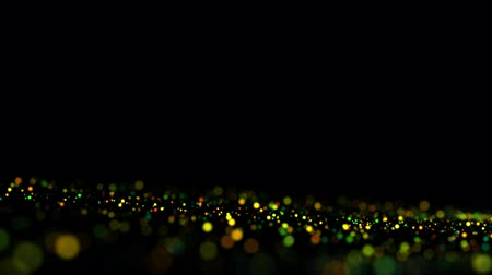 premium : multicolored particles in liquid float and glisten. 4k 3d advection background with glittering particles, depth of field and bokeh isolated on black. Luma matte to cut out particles. 36 Stock Footage