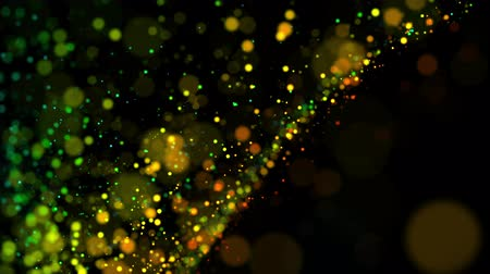 glittery : multicolored particles in liquid float and glisten. 4k 3d advection background with glittering particles, depth of field and bokeh isolated on black. Luma matte to cut out particles. 37 Stock Footage