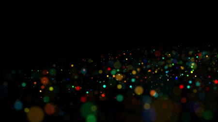 abundante : multicolored particles in liquid float and glisten. 4k 3d advection background with glittering particles, depth of field and bokeh isolated on black. Luma matte to cut out particles. 55 Vídeos