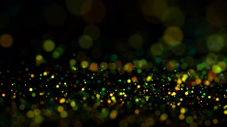 desfocado : multicolored particles in liquid float and glisten. 4k 3d advection background with glittering particles, depth of field and bokeh isolated on black. Luma matte to cut out particles. 70 Vídeos