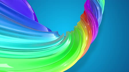 caramelo : Paint flow moves in a circle. Abstract colorful creative background with stream of mixed oil paints that form a ribbon of rainbow colors. looped 3d animation in 4k with luma matte as alpha channel. 38 Vídeos