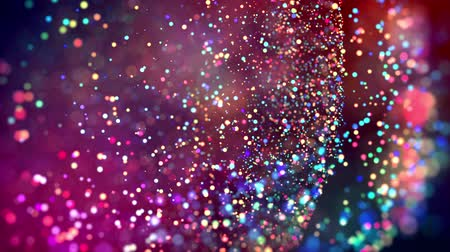 nucleic : multicolored particles like confetti or spangles float in a viscous liquid and glitter in the light with depth of field. 3d abstract animation of particles in 4k. luma matte as the alpha channel. 29 Stock Footage
