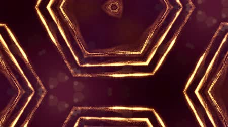 размеры : sci-fi gold background of luminous particles that form curves, surfaces, complex structures, time-varying waves with depth of field and bokeh light effects. looped animation modern motion graphics. 36