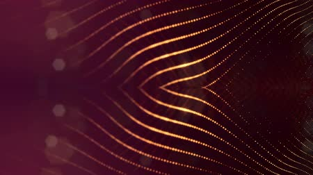 mosaico : sci-fi gold background of luminous particles that form curves, surfaces, complex structures, time-varying waves with depth of field and bokeh light effects. looped animation modern motion graphics. 59 Stock Footage