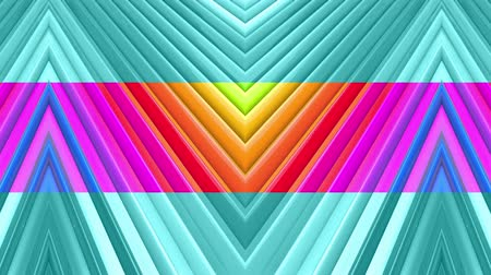 abstract animated : rainbow colors abstract stripes, background in 4k with bright shiny paint. Smooth seamless animation with gradient color. Straight lines 4