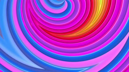 korkak : rainbow colors abstract stripes, background in 4k with bright shiny paint. Smooth seamless animation with gradient color. Curved lines 11 Stok Video