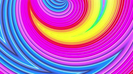 zděšený : rainbow colors abstract stripes, background in 4k with bright shiny paint. Smooth seamless animation with gradient color. Curved lines 12