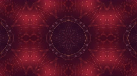 estetický : Microworld, mandala or ornamental neon abstract background. Complex symmetric golden composition with glow particles that form wavy structures like in a kaleidoscope. 4k 3d looped smooth animation. 7