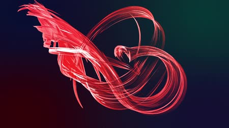 dinamic background : Abstract transparent tapes in motion as seamless creative background. Colorful stripes twist in a circular formation. Looped 3d smooth animation of bright shiny ribbons curled in circle. Red