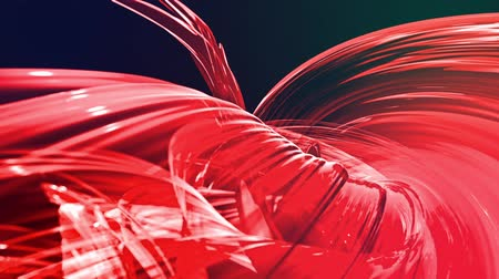 lágyság : Abstract transparent tapes in motion as seamless creative background. Colorful stripes twist in a circular formation. Looped 3d smooth animation of bright shiny ribbons curled in circle. Red