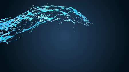 paint splash : 4k blue splash moves past the camera in slow motion in cartoon style. 3d animation of liquid with luma matte as alpha channel. To cut a splash use luma matte. 15