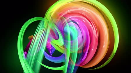 kisebbség : transparent colored lines with a neon glow on a black background. Motion graphics 3d looped background with multicolor colorful rainbow ribbons. Beautiful seamless background in motion design style 43