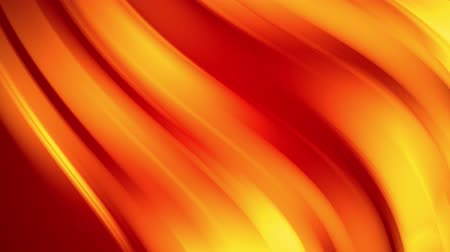 distorção : A red yellow gradient of a bright fire color changes slowly and cyclically. 4k smooth seamless looped abstract animation. 3d render of curved lines. 20 Stock Footage