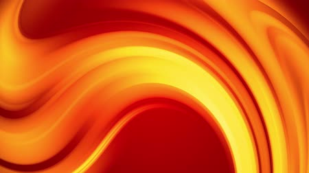 distorsiyon : A red yellow gradient of a bright fire color changes slowly and cyclically. 4k smooth seamless looped abstract animation. 3d render of curved lines. 33 Stok Video
