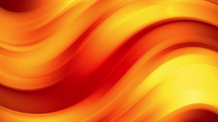 произведение искусства : A red yellow gradient of a bright fire color changes slowly and cyclically. 4k smooth seamless looped abstract animation. 3d render of curved lines. 40