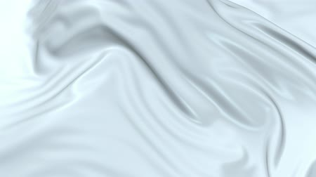 záhyby : White silky fabric forms beautiful folds in the air in slow motion. 4k 3D animation of wavy surface forms ripples like in fluid surface and the folds like in tissue. Animated texture V11 Dostupné videozáznamy