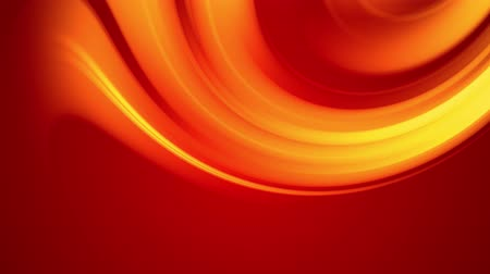 ゆがんだ : A red yellow gradient of a bright fire color changes slowly and cyclically. 4k smooth seamless looped abstract animation. 3d render of curved lines. 74
