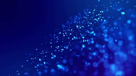solene : glitter blue magic particles fly and glow in viscous liquid with amazing bokeh for fantastic background in 4k. Close-up shot with luma matte as alpha channel to cut out particles. 3d render