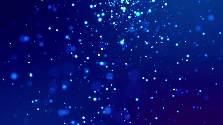 desfocado : glitter blue magic particles fly and glow in viscous liquid with amazing bokeh for fantastic background in 4k. Close-up shot with luma matte as alpha channel to cut out particles. 3d render