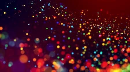 particle system : glitter magic multicolor particles fly and glow in viscous liquid with amazing shining bokeh for fantastic festive background in 4k. Close-up shot with luma matte as alpha channel. 3d render