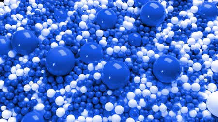 nagy felbontású : 3d simple abstract geometric background with blue and white balls cover the surface, mixing smoothly. 4k seamless looped animation as a beautiful creative background for presentations
