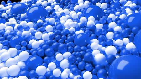 yüksek çözünürlüklü : 3d simple abstract geometric background with blue and white balls cover the surface, mixing smoothly. 4k seamless looped animation as a beautiful creative background for presentations