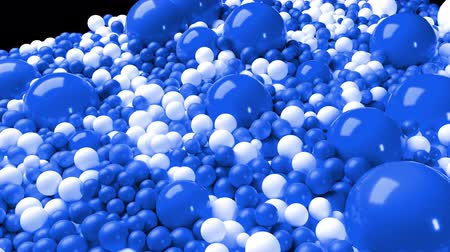 wallow : 3d simple abstract geometric background with blue and white balls cover the surface, mixing smoothly. 4k seamless looped animation as a beautiful creative background for presentations