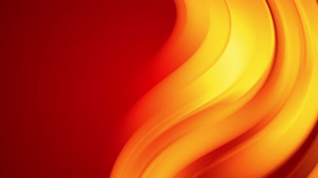 yumuşaklık : A red yellow gradient of a bright fire color changes slowly and cyclically. 4k smooth seamless looped abstract animation. 3d render of curved lines. 72