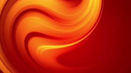 hallucination : A red yellow gradient of a bright fire color changes slowly and cyclically. 4k smooth seamless looped abstract animation. 3d render of curved lines. 87