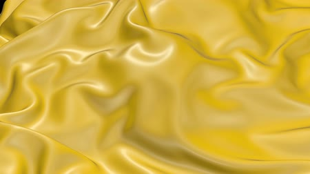 draperie : 4k 3D animation of wavy yellow cloth surface that forms ripples like in fluid surface or the folds in tissue. Yellow silky fabric forms beautiful folds in the air in slow motion. Animated texture. 1