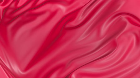 brocade : 4k 3D soft animation of wavy red cloth surface that forms ripples like in fluid surface or the folds in tissue. Red silky fabric forms beautiful folds in the air in slow motion. Animated texture. 13