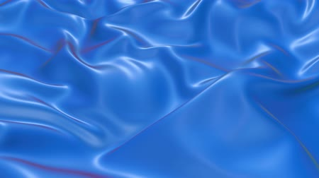 deformação : 4k 3D animation of wavy blue cloth surface that forms ripples like in fluid surface or the folds like in tissue. Blue silky fabric forms beautiful folds in the air in slow motion. Animated texture. 24