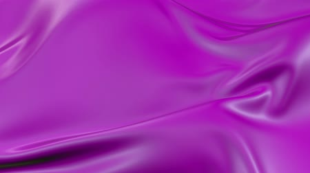 atlaszfényû : 4k 3D animation of wavy violet cloth surface that forms ripples like in fluid surface or the folds like in tissue. Purple silky fabric forms folds in the air in slow motion. Animated texture. 40