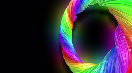 caramelo : Paint flow moves in a circle. Abstract colorful creative background with stream of mixed oil paints that form a ribbon of rainbow colors. looped 3d animation in 4k with luma matte as alpha channel.