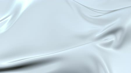 fejleszt : White silky fabric forms beautiful folds in the air in slow motion. 4k 3D animation of wavy surface forms ripples like in fluid surface and the folds like in tissue. Animated texture V40