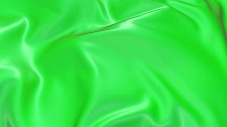 záhyby : 4k 3D smooth animation of wavy green cloth surface that forms ripples like in fluid surface or the folds in tissue. Green silky fabric forms beautiful folds in the air in slow motion. 7 Dostupné videozáznamy