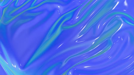 deformação : 4k 3D smooth animation of wavy blue cloth surface that forms ripples like in liquid paint surface or the folds in tissue. Blue silky fabric forms beautiful folds in the air in slow motion. 13