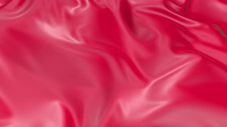 atlaszfényû : 4k 3D soft animation of wavy red cloth surface that forms ripples like in fluid surface or the folds in tissue. Red silky fabric forms beautiful folds in the air in slow motion. Animated texture. 9
