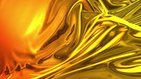 rtuť : Animated metalic gradient in 4k. 3D render of wavy cloth surface that forms ripples like in liquid metal surface or folds in tissue. Red yellow gradient of foil forms folds in slow motion. 15 Dostupné videozáznamy