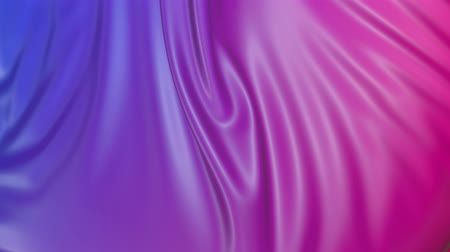 dobras : Animated texture in 4k. 3D animation of red violet gradient of wavy cloth surface that forms ripples like in liquid surface or folds in tissue. Red purple silky fabric with folds in slow motion. 21