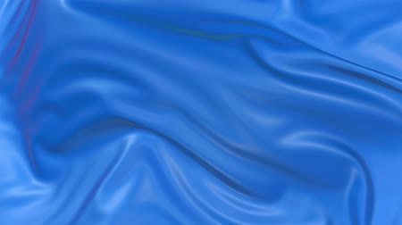 atlaszfényû : 4k 3D animation of wavy blue cloth surface that forms ripples like in fluid surface or the folds like in tissue. Blue silky fabric forms beautiful folds in the air in slow motion. Animated texture. 14 Stock mozgókép